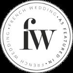 logo French wedding style pour une parution d'un article sur leur blog d'un shooting d'inspiration