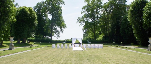 château du breuil cérémonie laique, linda champenois wedding designer